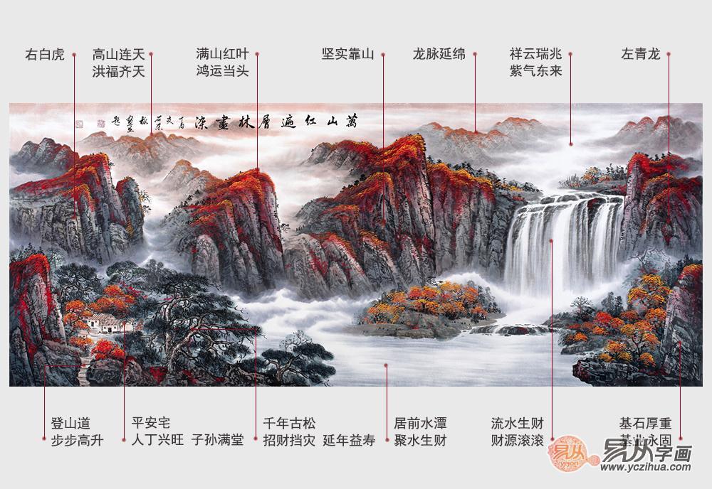 山水国画装饰风景美!